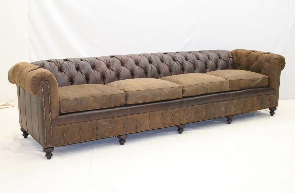 Old Hickory Tannery Bootstrap 4 Cushion Tufted Sofa Western Sofas And  Loveseats   Plenty Of Seating