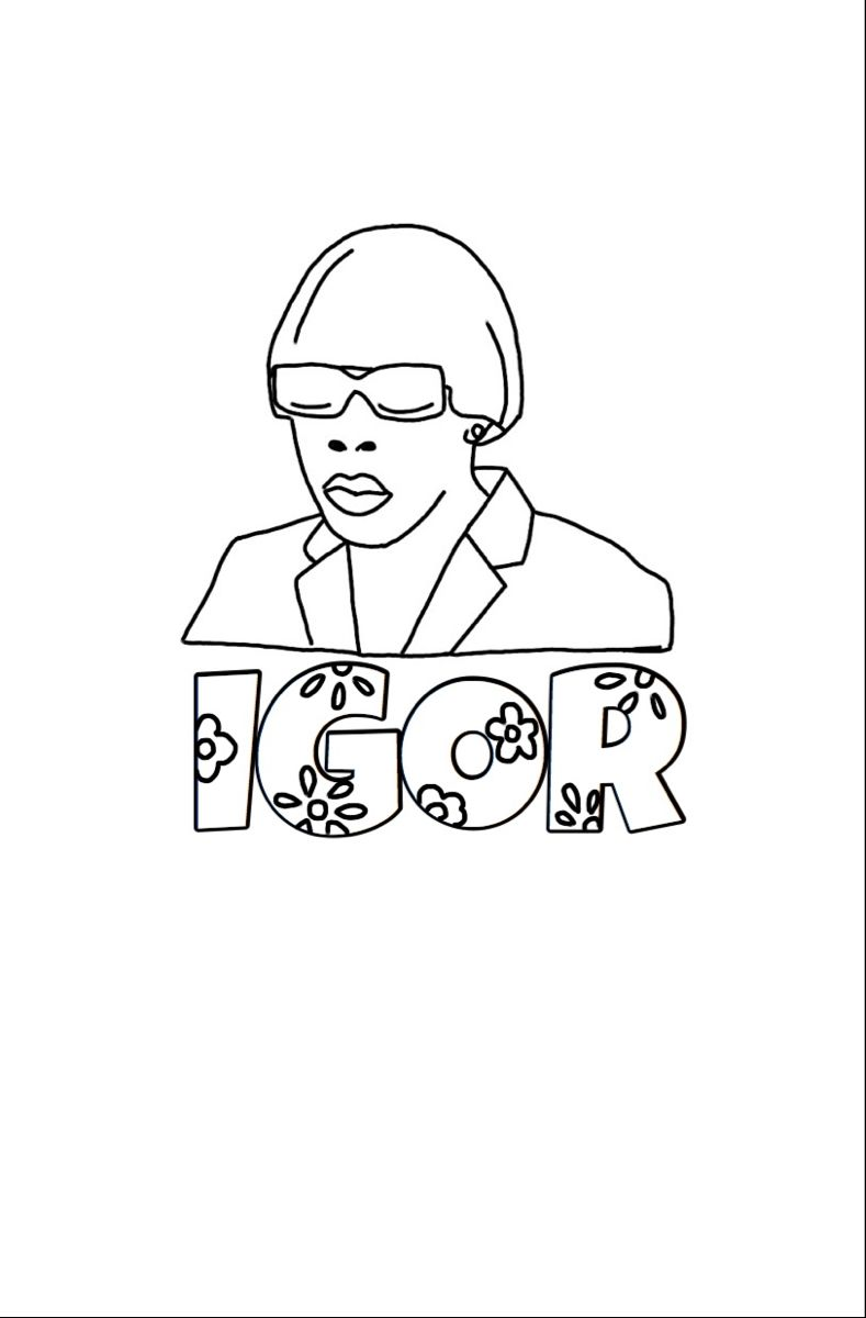 Tylerthecreator Floral Doodle Poster Printable Coloringpages Cute Coloring Pages Mini Canvas Art Tyler The Creator Tattoos