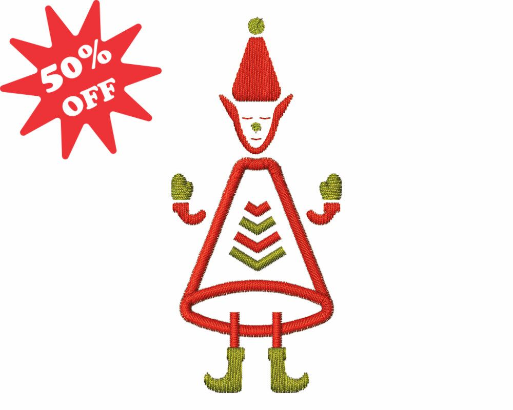 50% OFF - Cute Elf Fill Embroidery - Digital Design for Embroidery Machine - Instant Download - 4x4 5x7 6x10 - Santa Claus Designs by AppliqueCreative on Etsy https://www.etsy.com/listing/252288144/50-off-cute-elf-fill-embroidery-digital
