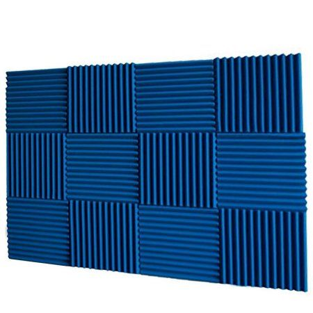 Mybecca 12 X 12 X 1 Ice Blue 12 Pack Acoustic Panels Studio Foam Wedges Fire Resistant Studio Foam Acoustic Panels Acoustic Wall Panels