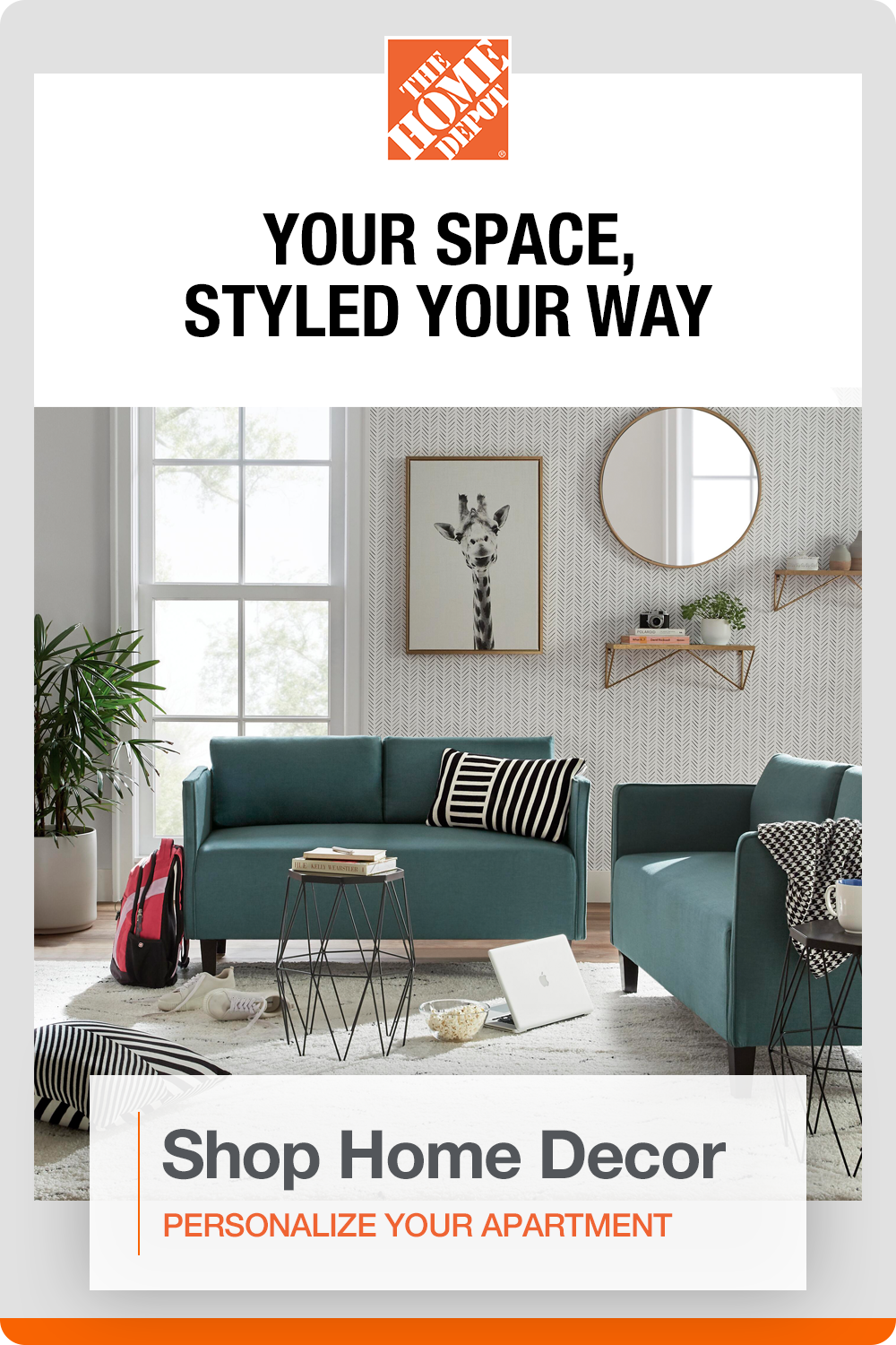 Personalize Your Small Space With On Trend Decor And More At The Home Depot Decorating A New Home Room Ideas Bedroom Home