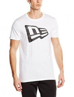 New Era T-Shirt Essential Flag Tee, White, L, 11159289