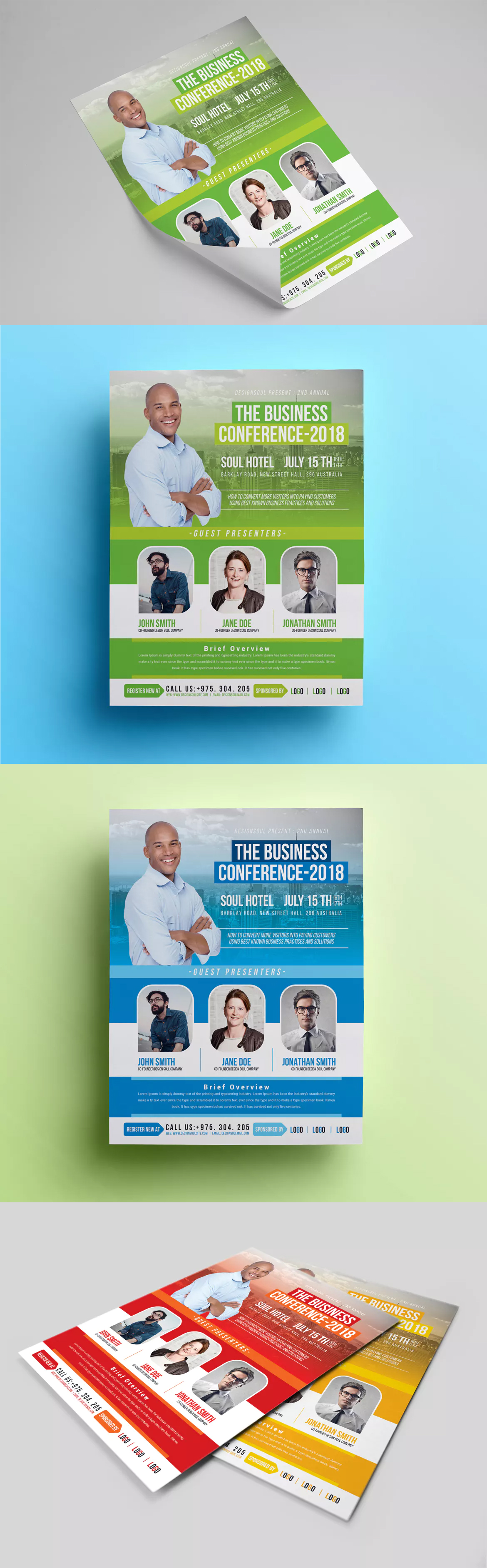 Business Conference Flyer Template Psd  Flyer Design Templates