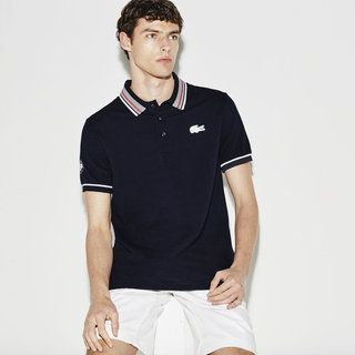 3a2bd00f4b Full-on French Open spirit for this Lacoste SPORT polo with piping ...