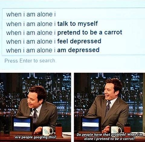 I can't stop laughing.  Google it.  Google pretending to be a carrot while alone.