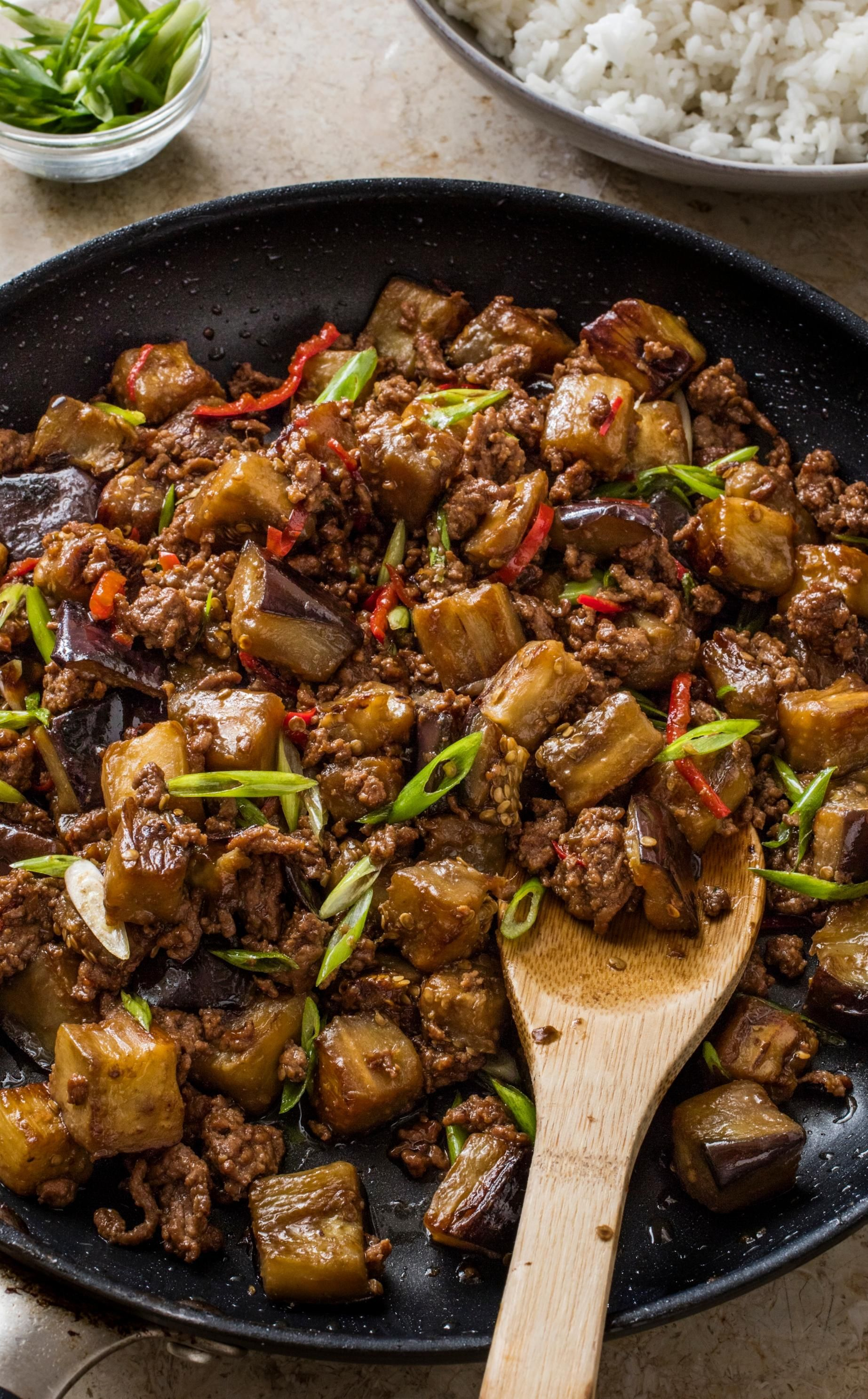 Chinese Style Beef And Eggplant Cook S Country Recipe Eggplant Recipes Asian Oriental Dishes Food