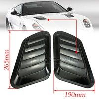 2 X Abs Car Decorative Air Flow Intake Scoop Turbo Bonnet Vent Cover Hood Wish Car Bonnet Vent Covers Car