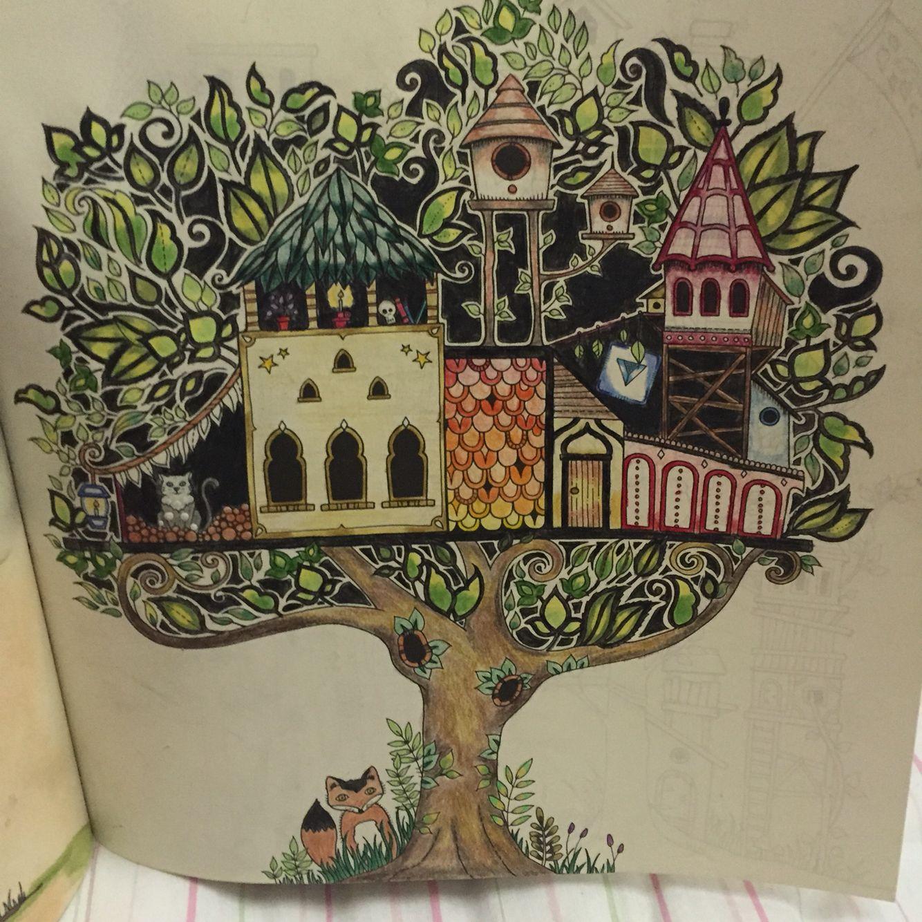 Floresta encantada árvore