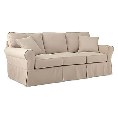 Jcp Friday Brushed Canvas Slipcovered Sofa
