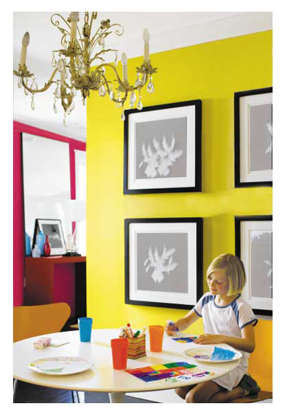 Yellow Punch | Bold Wall Color | Pinterest | Yellow punch, Wall ...