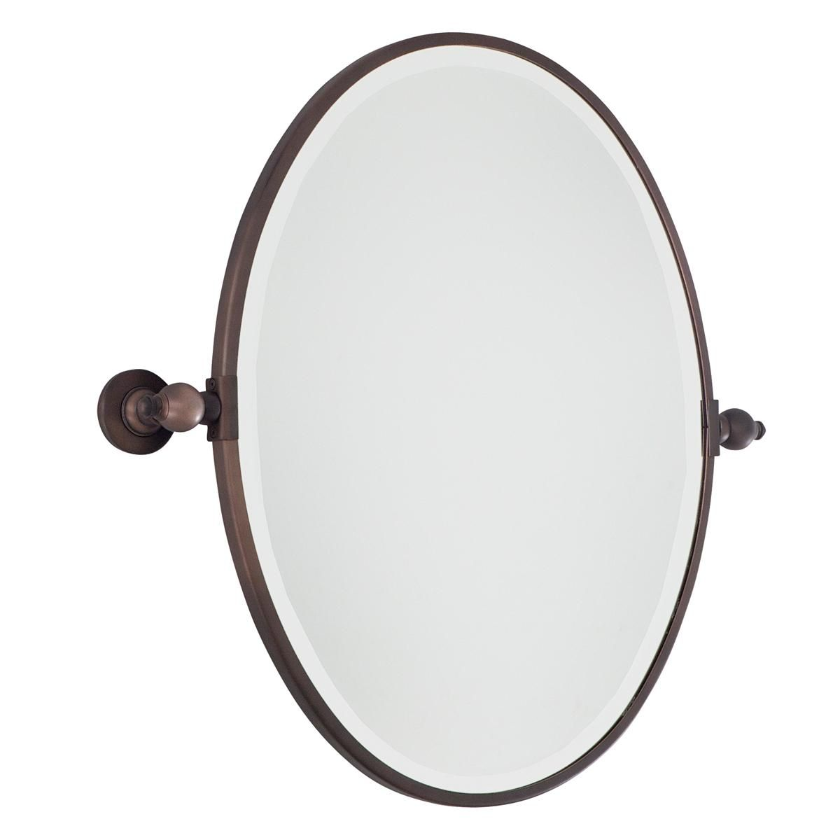 Oval Tilt Bathroom Mirror 2 Finishes With Images Mirror