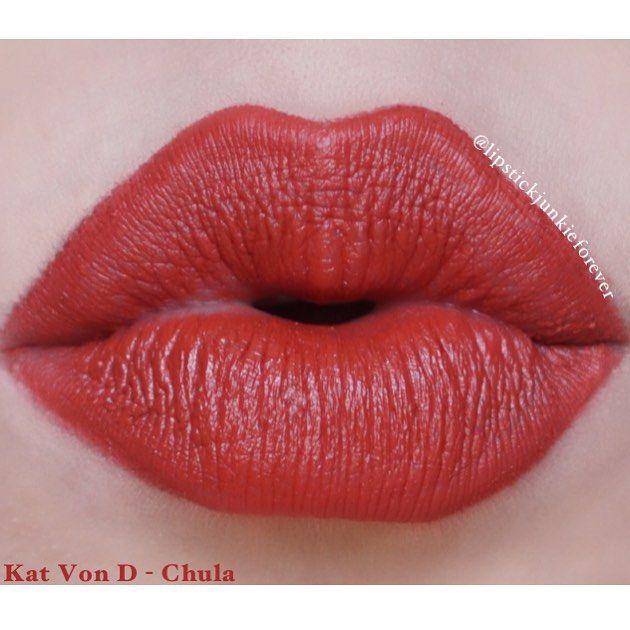 Kat Von D Studded Kiss Lipstick in Chula!   Cosmetics n stuff ...