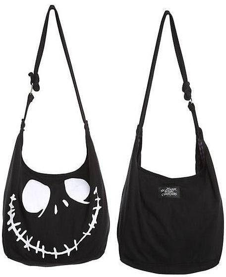 f18ba85ee5 NIGHTMARE BEFORE CHRISTMAS Disney JACK Skellington HOBO purse punk goth BAG   Disney  Hobo