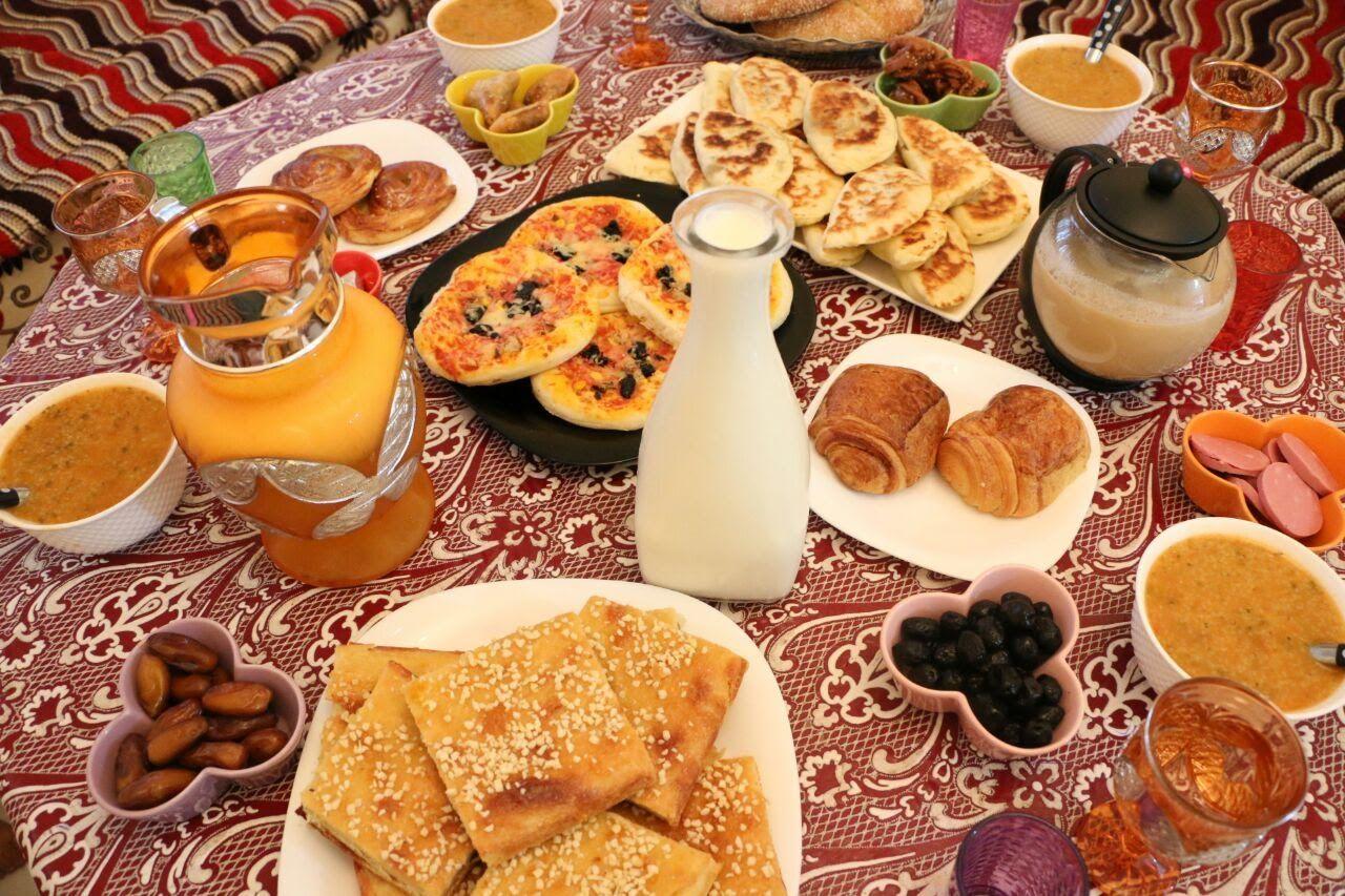 مائدة فطور رمضانية بافكار بسيطة و سهلة مع طبخ ليلى Maida Fotour Cooking Recipes Food Recipes