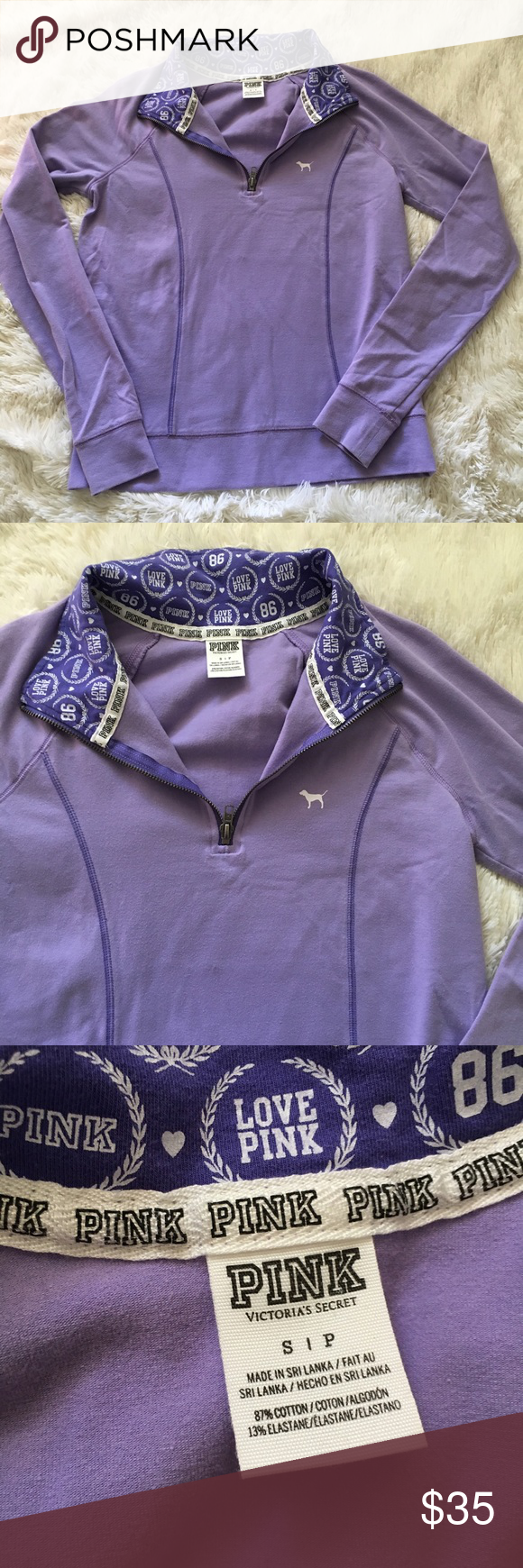 VS PINK purple quarter zip jacket Fitted fit. No stains or tears ...
