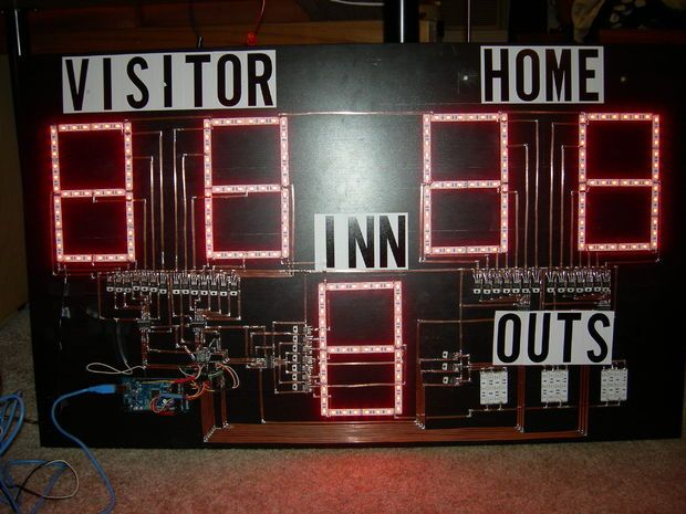 how to build led scoreboard