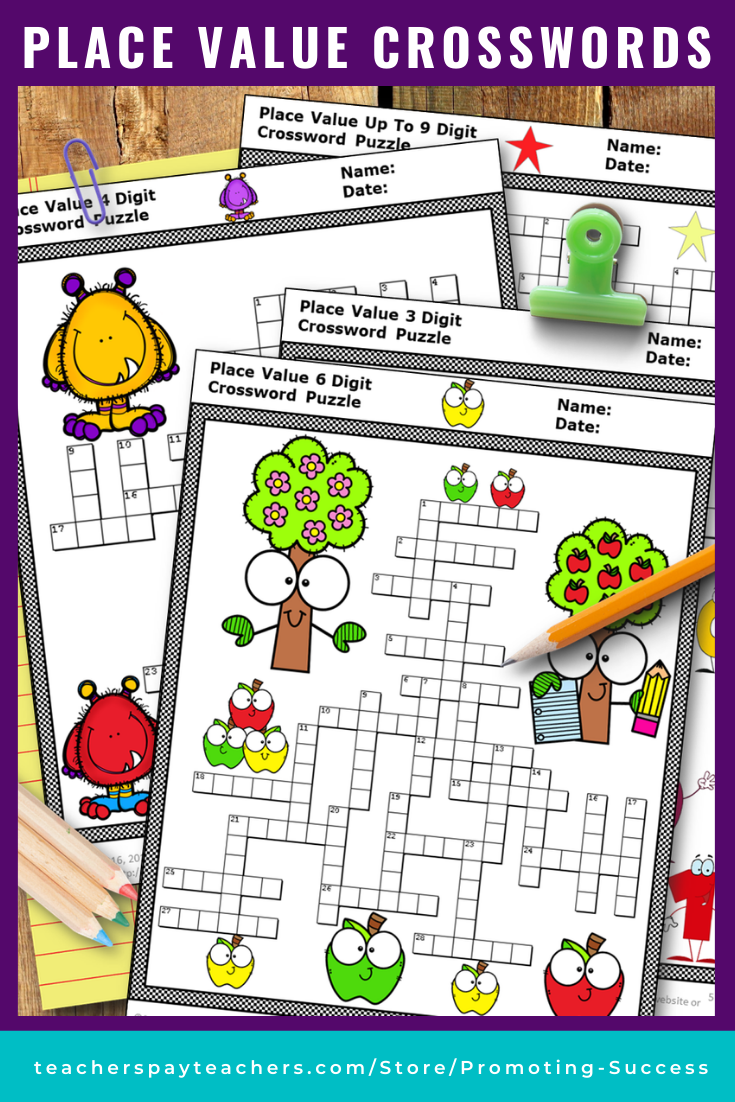 Place Value Activities Crossword Puzzle Worksheets Bundle 2nd 3rd 4th Grade Special Education Math Place Value Worksheets Teaching Math Strategies [ 1102 x 735 Pixel ]