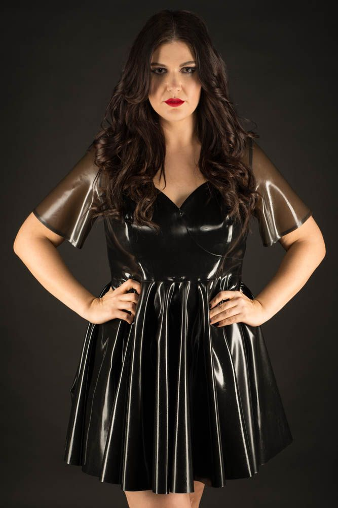 Plus size latex skater dress. | dark | Latex dress, Latex, Dresses