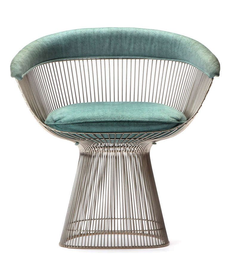 Warren Platner´s Steel Wire Dining Chair, For Knoll International, Ca.1960s