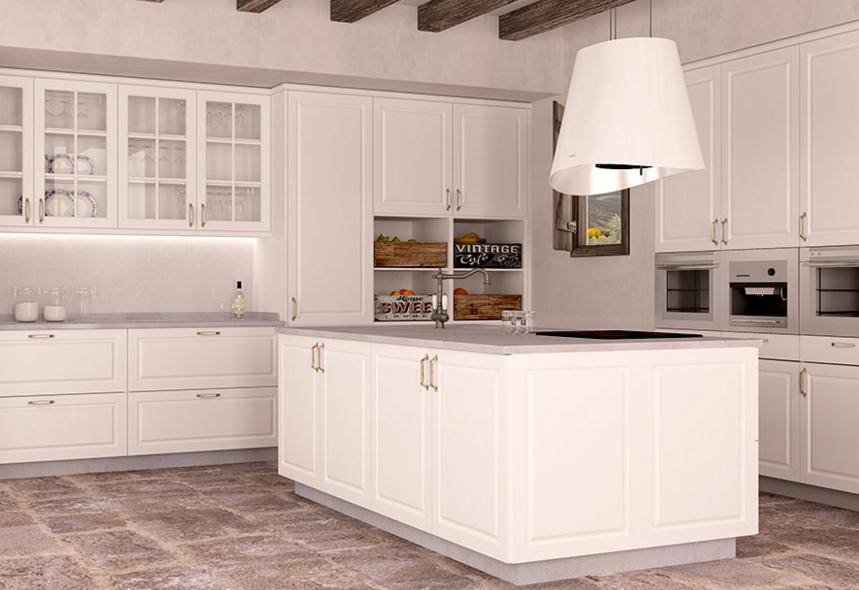 Corte clásico y colores neutros para una cocina a la última | Sueña ...