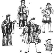Henry VIII Early Tudor Garments Costumes Period Patterns Sewing Pattern  53