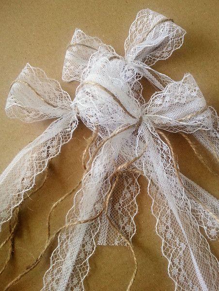 Hochzeitsdeko Antennenschleifen In Zauberhaften Vintage Stil Ein