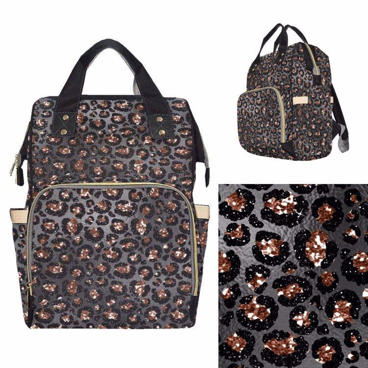 Baby Diaper Nappy Changing Backpack Bag Rose Gold Leopard ...