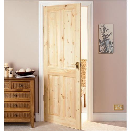 Knotty Pine Cabinet Doors: Wickes Chester Knotty Pine 4 Panel Internal Door