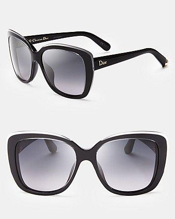 Dior Promesse 2 Oversized Cat Eye Sunglasses