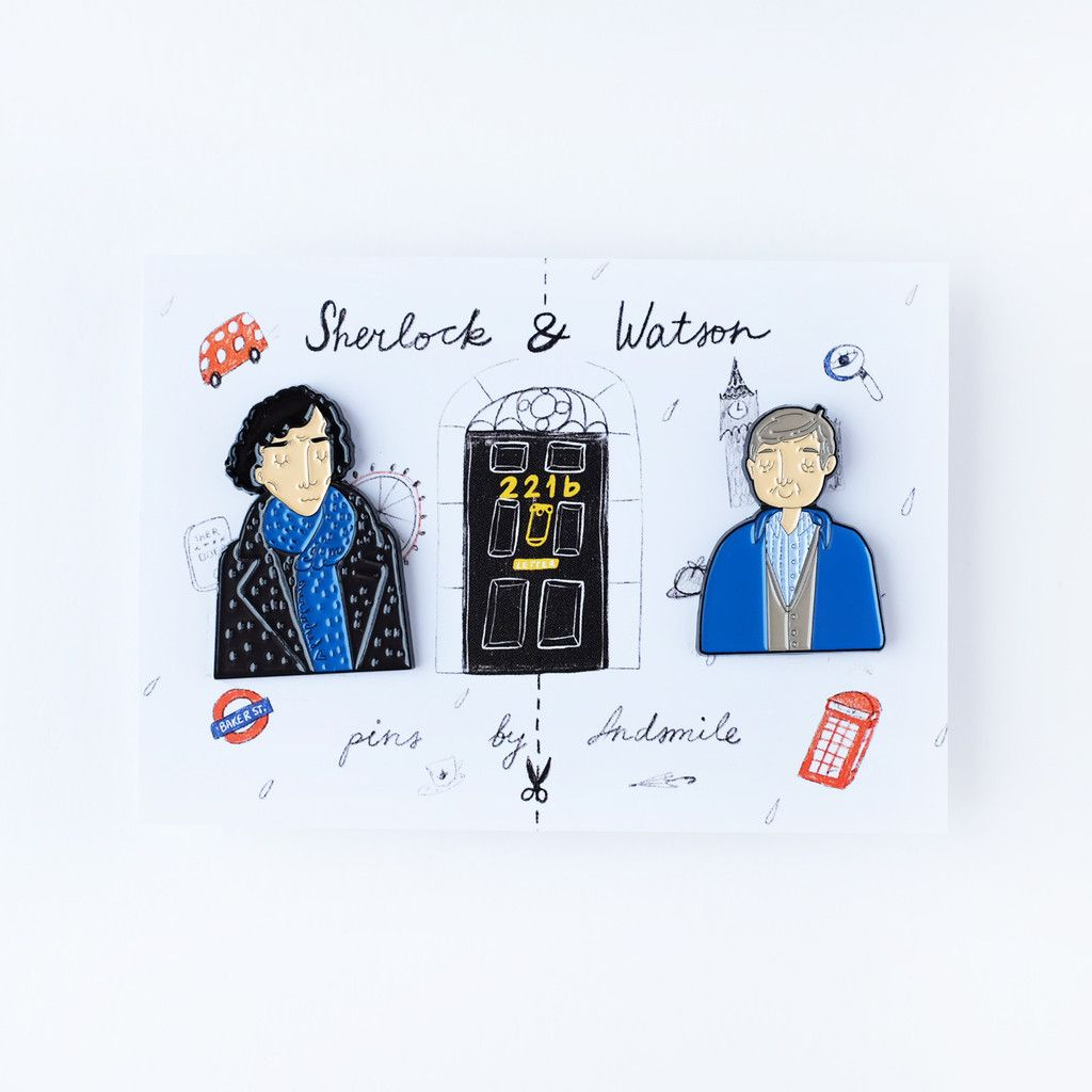 Sherlock and watson pins the red door gallery sherlock and patches