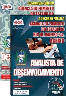 Apostila Concurso Agência de Fomento do Estado do Rio de Janeiro S.A. - AGERIO - 2014/2015: - Cargo: Analista de Desenvolvimento