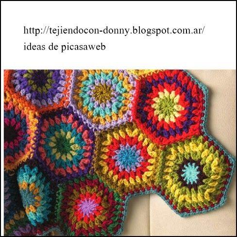 Crochet ganchillo patrones graficos granny - Patrones de mantas a crochet ...