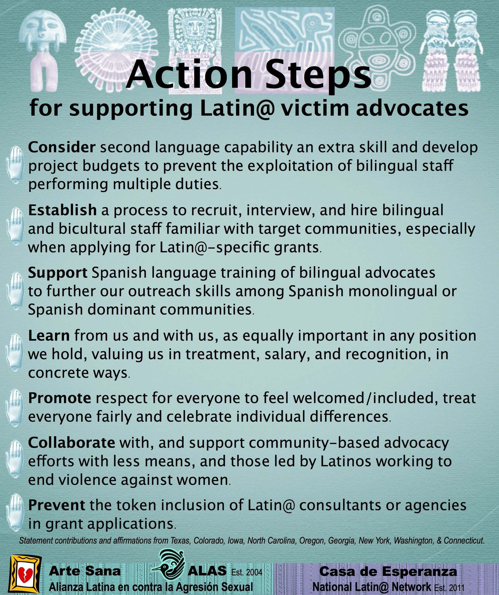 Action Steps For Supporting Latin Victim Advocates Via Arte Sana
