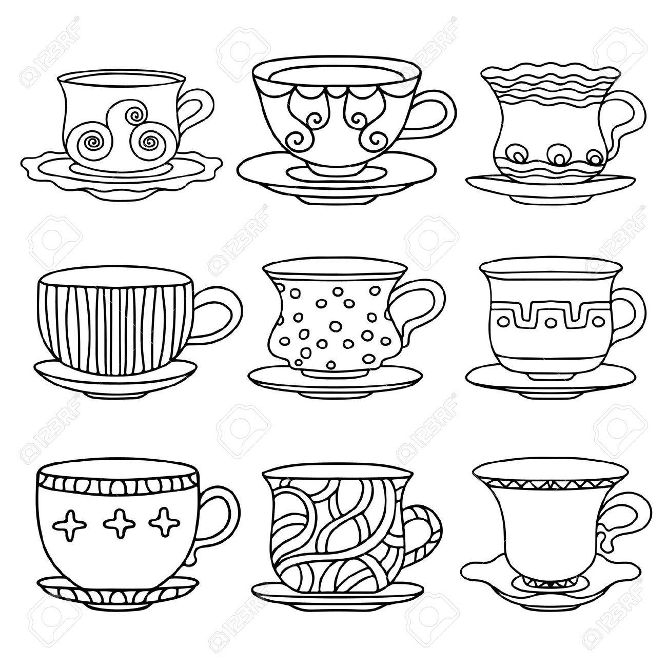 como dibujar tazas de cafe - Google Search | Bordados | Pinterest ...