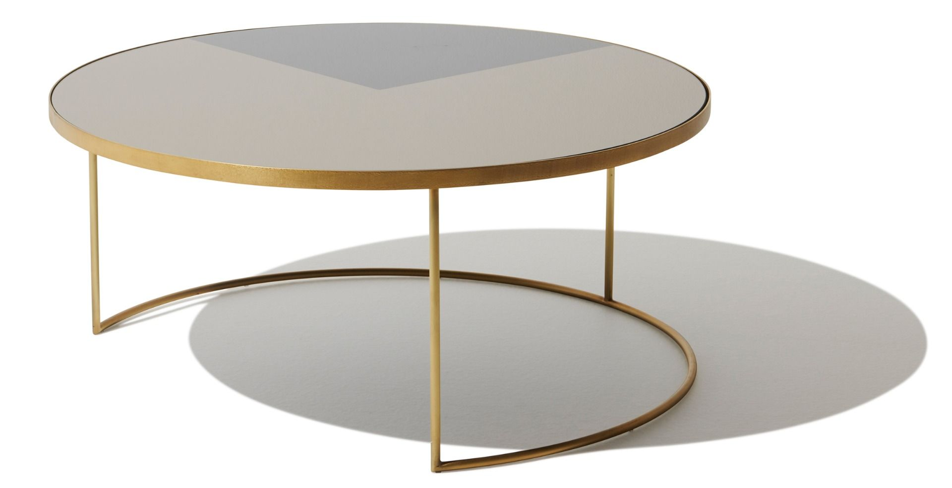 Geometric Bronze Coffee Table Round Table Round Coffee Table