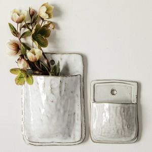 Ceramic Wallscape Planter, Set of 2 -   - #ceramic #ceramicart #ceramicpottery #handmadeceramics #planter #Set #wallscape