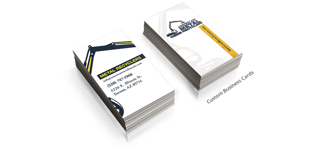 Check out this business card design tagline did for a local tucson check out this business card design tagline did for a local tucson metal recycler american metal recycling present a professional appearance with a colourmoves