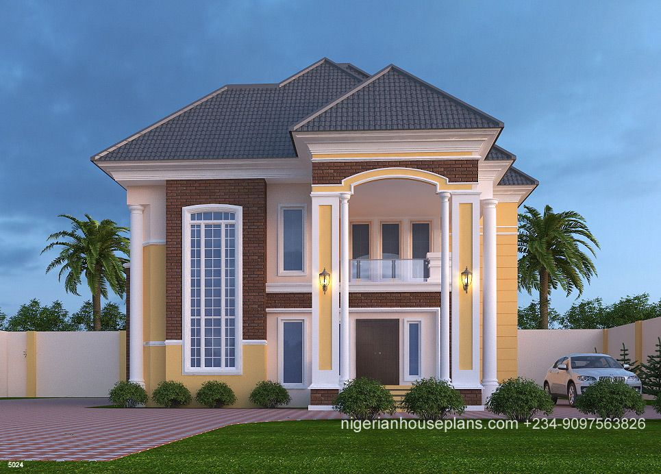 5 Bedroom Duplex Ref 5024 Nigerianhouseplans House Plans Mansion House Plan Gallery Model House Plan