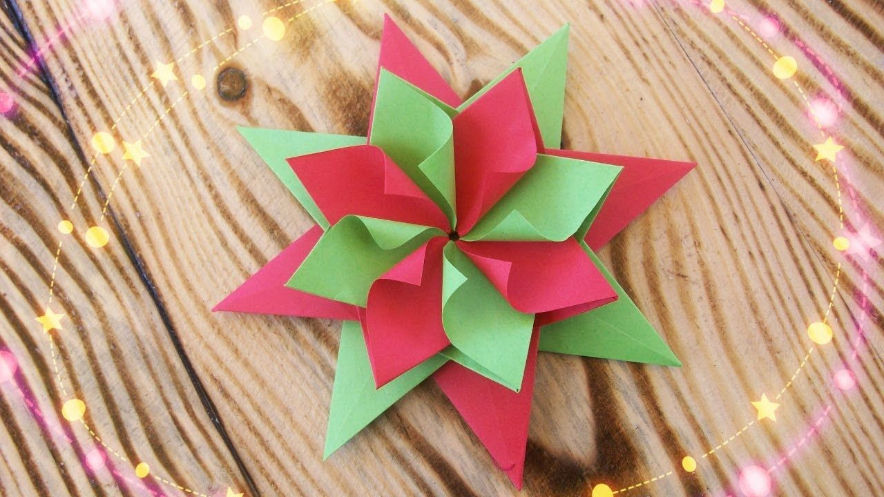 easy paper christmas decorations origami star new year party home decor ideas diy crafs youtube