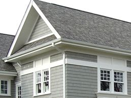 Best Harbor Grey Colored Siding With Linen Colored Trim New 400 x 300