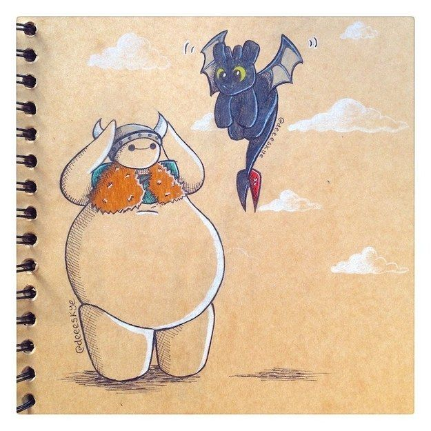 Community Post: 19 Pieces Of Fan Art That Prove Baymax Is Your New Fave Character