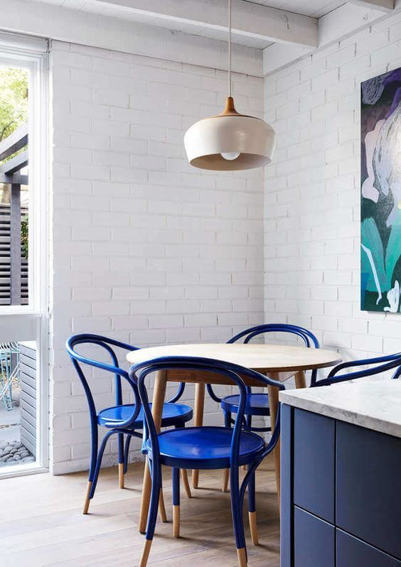 Best Cobalt Blue Dining Chairs In Navy And White Modern Kitchen 400 x 300