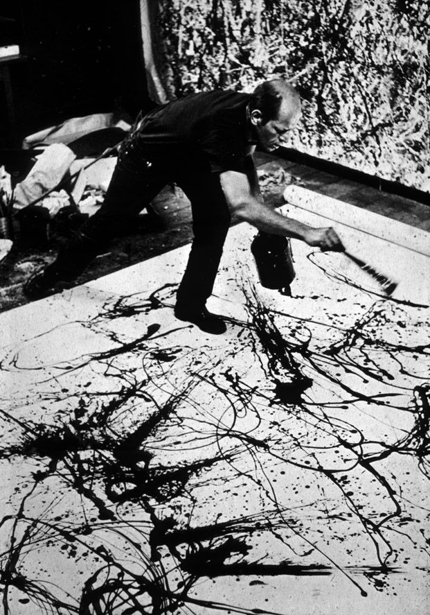 Dripping Paint with Pollock | Jackson pollock and Action painting