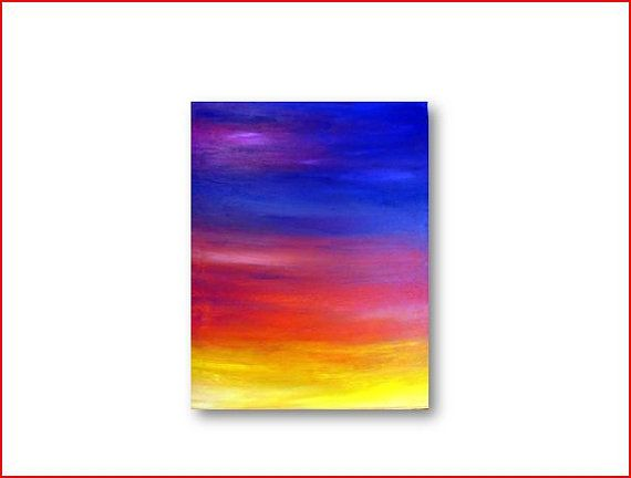 Abstract Art Acrylic Painting Original by LittleCabooseStudio, $75.00