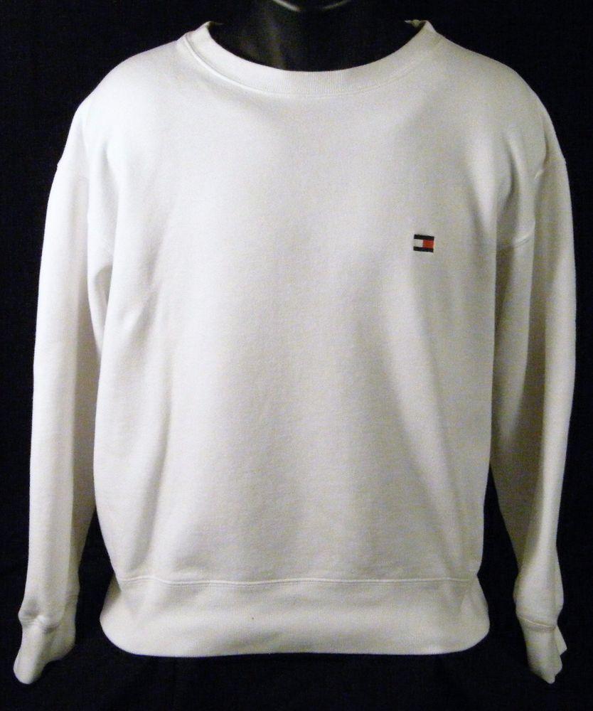Tommy Hilfiger Small Box Logo White L S Crewneck Sweatshirt Large Crew Neck Sweatshirt Sweatshirts Tommy Hilfiger [ 1000 x 834 Pixel ]