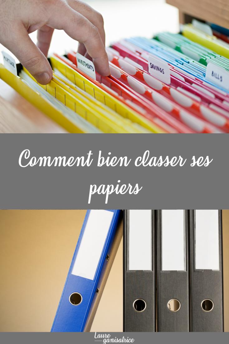 Comment Bien Classer Ses Papiers Laure Ganisatrice Rangement Papier Administratif Organisation De Papier Boite Rangement Papier