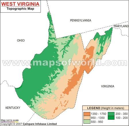 West Virginia Topographic Map West Virginia Topographic Map | Topographic map, West virginia