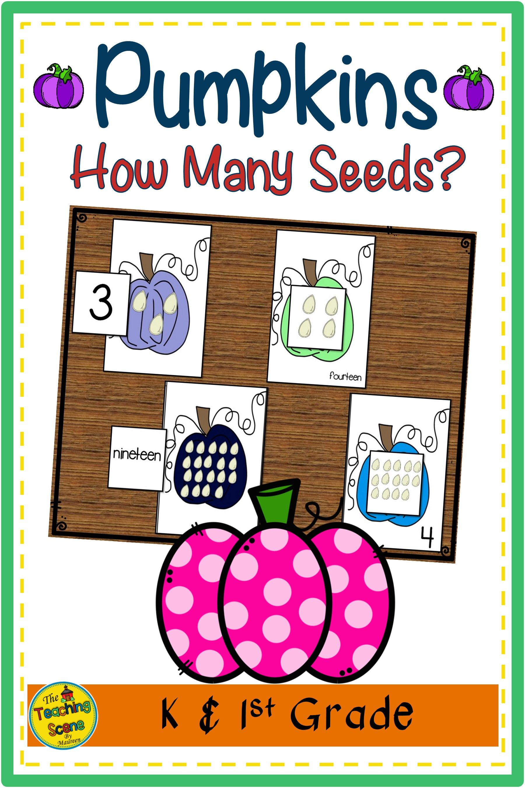 Pumpkin Counting Games How Many Pumpkin Seeds In