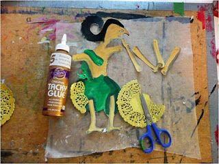 that artist woman: Wayang Kulit: How to Make Indonesian Shadow Puppets  KA: Camp /or
