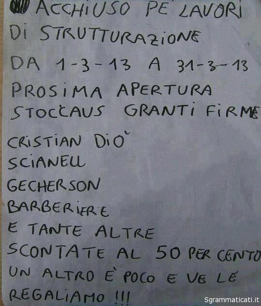 PROSIMA APERTURA GRANTI FIRME STOCCAUS!!!